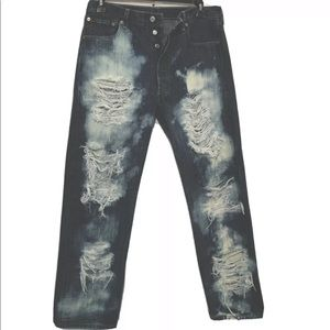 Levi's 501 Jeans 36 X 30 distressed destroyed